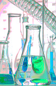 Chemical Glassware Pictorial - Stock Image - AJFJ11