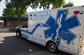 Ambulance, rural volunteer fire department, equipment - Stock Image - EXHMD5