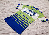 Cycling jersey of the French professional racing La Redoubte Motobecane - Stock Image - HDX51H