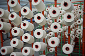 India Indore , textile mill produce yarn and fabric from fair trade cotton - Stock Image - B70FER