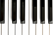 Piano Key close up shot - Stock Image - BMGDCY