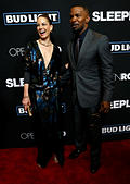 Cast members Jamie Foxx and Michelle Monaghan attend the premiere of the movie 'Sleepless' in Los Angeles, California U.S., January 5, 2017.   REUTERS/Mario Anzuoni - Stock Image - HG8N46