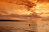 Jamaica Negril beach sunset - Stock Image - AXT7YM