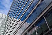 Windows of office building - Stock Image - BK7EM5