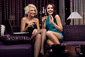 Two pretty girl having fun together - Stock Image - C690B8