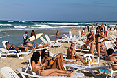Teenager at Playa del Este, Santa Maria Del Mar, near Havanna Cuba - Stock Image - C0F6DK