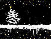 Grunge Christmas background - Stock Image - B56735