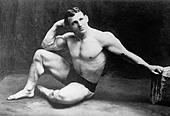 John Lemm, champion wrestler, circa 1910 - 1915 - Stock Image - C534BX