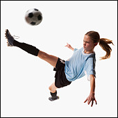 Soccer player - Stock Image - BMJ0WN