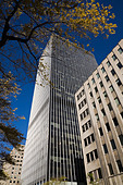 Office buildings in downtown montreal - Stock Image - BK7ENW