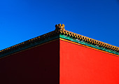 Palace wall of Forbidden City, Beijing, China - Stock Image - BMF43E