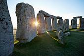 England, Wiltshire, Stonehenge - Stock Image - CPFBRT