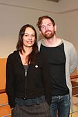 Michael Grubbs and Tanya Buziak of Wakey!Wakey! during a promotional visit to radio station Radio Hamburg. Hamburg, Germany - - Stock Image - D5BGH8