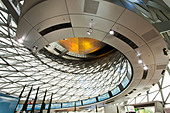 Germany,Bavaria,Munich, BMW Museum, architectural detail - Stock Image - BY203N