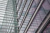 Windows of office building - Stock Image - BK7EM7