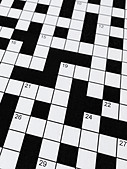 Crossword - Stock Image - BJ77B7