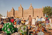 Great Mosque of Djenne, Djenne, Mopti Region, Niger Inland Delta, Mali, West Africa - Stock Image - BBTWGT