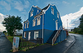architecture in Akureyri, northern Iceland - Stock Image - D2A381