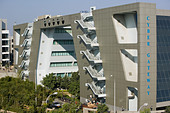 INDIA, Andhra Pradesh, Hyderabad: HITEC CITY, Major center of Indian Software Call Centre Industry. Cyber Gateway Building - Stock Image - ANXTH3