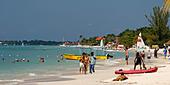 Jamaica Negril beach - Stock Image - AXT9BP