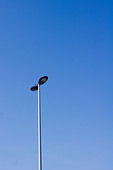 a street light with blue sky backgrounds - Stock Image - CTYCKK