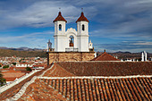 rooftops in Sucre, Bolivia - Stock Image - BRJPCD