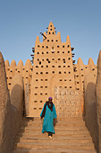 Great Mosque of Djenne, Djenne, Mopti Region, Niger Inland Delta, Mali, West Africa - Stock Image - BBTWEJ