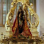 Madonnenfigur in der St. Jan-Kathedrale in sHertogenbosch, Nordbrabant - Stock Image - AYTJ07