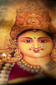 Hindu goddess Lakshmi. Sacred India - Stock Image - BGEFGB