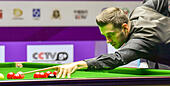 Daqing, China's Heilongjiang Province. 30th Oct, 2016. Mark Selby of England competes during the final match against Ding Junhui of China at the 2016 World Snooker International Championship in Daqing, northeast China's Heilongjiang Province, Oct. 30, 2016. Mark Selby won 10-1 and claimed the title. © Wang Song/Xinhua/Alamy Live News - Stock Image - H6KBP4