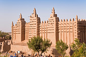 Great Mosque of Djenne, Djenne, Mopti Region, Niger Inland Delta, Mali, West Africa - Stock Image - BBTWTR