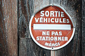 French no car parking signal - Stock Image - E6HW0Y