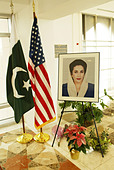 Tribute book signing to Benazir Bhutto, Prime Minister of Pakistan who was assassinated on December 27, 2007, after departing a - Stock Image - C2HJGD