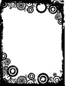Grunge circle background - Stock Image - B563RC