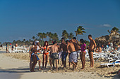 Teenager at Playa del Este, Santa Maria Del Mar, near Havanna Cuba - Stock Image - C0F6D5