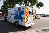 Ambulance, rural volunteer fire department, equipment - Stock Image - EXHKF3