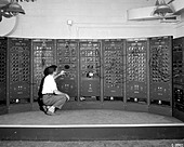 Analog Computing Machine, an early version of the modern computer. - Stock Image - C2N23B