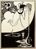 fine arts, Beardsley, Aubrey (1872 - 1898), print, 'Die Apotheose', illustration for the play 'Salome' by Oscar Wilde, England, - Stock Image - DAWA4N