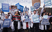 "Boston, Massachusetts, USA. 19th February, 2017.  More than 1,000 scientists and science advocates gathered in Copley Square in central Boston during the ""Stand up for Science"" rally.Credit: Chuck Nacke/Alamy Live News - Stock Image - HP8T97"