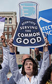 "Boston, Massachusetts, USA. 19th February, 2017.  More than 1,000 scientists and science advocates gathered in Copley Square in central Boston during the ""Stand up for Science"" rally.Credit: Chuck Nacke/Alamy Live News - Stock Image - HP8T96"