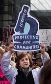 "Boston, Massachusetts, USA. 19th February, 2017.  More than 1,000 scientists and science advocates gathered in Copley Square in central Boston during the ""Stand up for Science"" rally.Credit: Chuck Nacke/Alamy Live News - Stock Image - HP8T95"