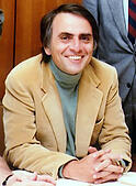 Carl Sagan, Carl Edward Sagan, American astronomer, cosmologist, astrophysicist, astrobiologist, author, science popularizer, and science communicator in astronomy and other natural sciences - Stock Image - KWDMWC