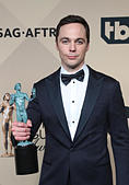 Los Angeles CA - JANUARY 29 Jim Parsons, At 23rd Annual Screen Actors Guild Awards - Press Room, At Shrine Auditorium In California on January 29, 2017. Credit: Faye Sadou/MediaPunch - Stock Image - HM1EHB