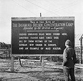 The Liberation of Bergen-belsen Concentration Camp, May 1945 BU6955. - Stock Image - D8PDBG