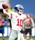 New York Giants' Eli Manning during the NFL International Series match at Twickenham, London. - Stock Image - H6283R