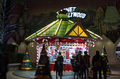 Disney Village at Christmas season - Stock Image - HED4G6