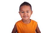 Asian boy smiling close up of face - Stock Image - D04CW2