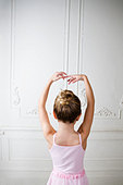 Young girl performing a ballet move - Stock Image - B07WHD