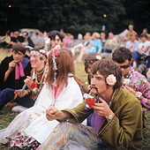 Hippy in London, 1967 - Stock Image - BPXDBP