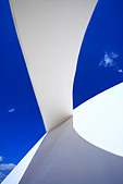architecture detail of the futuristic national museum of brasilia city - Stock Image - ANYHBW